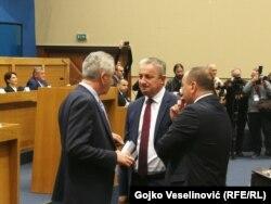 Šarović i Borenović (na forografij) uputili su oštre kritike na račun SNSD-a i Dodika