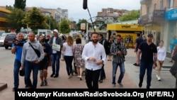 Олександр Дубінський агітує у Василькові