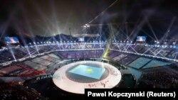 Снимок с церемонии открытия Игр в Пхенчхане. 9 февраля 2018 года.