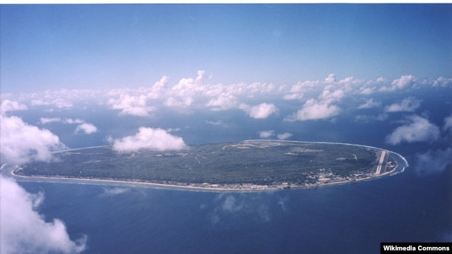 نمای هوایی از جزیره نائورو