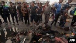 Իրաքցիները պայթյունների վայրում, Բաղդադ, 28-ը փետրվարի, 2016թ․