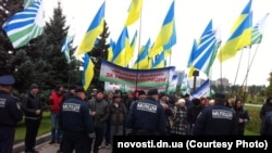 In October in Donetsk, Communists rallied in support of Ukraine joining Russia's Customs Union.