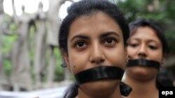 راهپیمایی دانشجویان در هند برای توقف خشونت علیه زنان