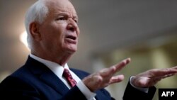 The report was authored by staffers working for Democratic members of the Senate Foreign Relations Committee, and commissioned by the panel's lead Democrat, Ben Cardin (pictured), an outspoken critic of the Kremlin.