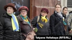Flash mob in support of Nadezhda Savchenko (Petersburg, March 8, 2015)