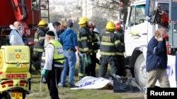 صحنه حمله در روز یکشنبه در بیتالمقدس