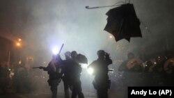 Protestat në Hong Kong.