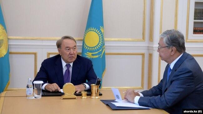 Nwrswltan Nazarbaev jäne Qasım-Jomart Toqaev