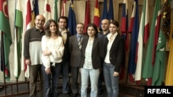 RFE/RL Azerbaijan Service staff, RFE/RL's Prague Broadcast Operations Center, 25Apr2007