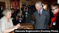 16сакавіка 2010 году брытанскі прынц Чарльз наведаў Крушыняны ібыў урэстарацыі Джанэты Багдановіч, каштаваў яестравы.