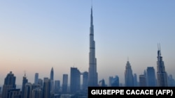 A picture taken on March 29, 2018 shows the Burj Khalifa, the tallest tower in the world, in downtown Dubai. FILE PHOTO