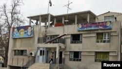 Hakim Baath partiyasının Deraada mitinqçilərin dağıtdıqları binası, 22 mart 2011