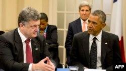 Лидеры западных стран не оставят Украину в беде. Петр Порошенко и Барак Обама на саммите НАТО в Уэльсе