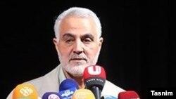 Генерал Касем Сулеймани, командир подразделения Корпуса стражей исламской революции (КСИР), отвечающего за зарубежные операции.