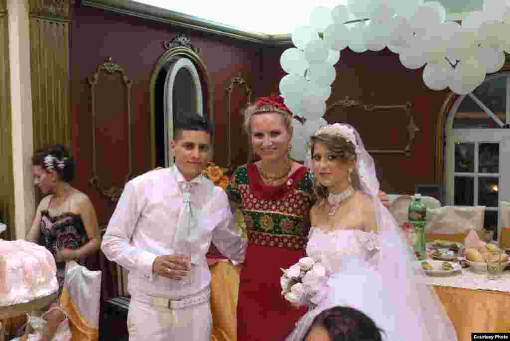Tying the knot in Shutka, a majority Roma district of the Macedonian capital, Skopje. Shutka is thought to be the largest Roma community in Europe.