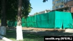 Toshkent shahri Nukus ko'chasida joylashgan uylar fasadi.