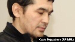Терроризмге қатысты айыпталған Саян Хайыров. Алматы, 16 қазан 2013 жыл.