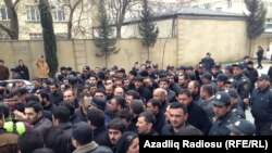 Azerbaijan -- A protest at the Baku Metro, 11 March 2014.