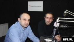 ექსპერტები - ირაკლი სესიაშვილი (მარჯვნივ) და ლევან ცუცქირიძე
