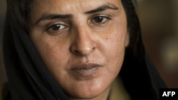 Pakistani gang rape victim Mukhtar Mai, who gained prominence for her outspoken stance on the oppression of women, at the Geneva Summit for Human Right and Democracy in Geneva in 2013.