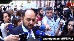 Министр образования и науки Араик Арутюнян, Ереван, 17 мая 2018 г.