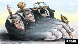 Політична карикатура. Автор Олексій Кустовський