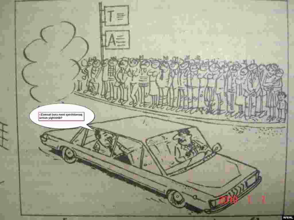 Durğunluq dövrünün karikaturaları #1