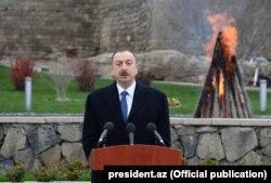 İlham Əliyev Novruz çıxışı (19 mart 2015)
