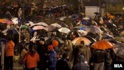 """Во Саботата протестираа граѓани незадоволни од постапките на обвинитетите во акцијата """"Пуч"""" ."""