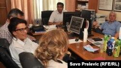 Nebojša Medojević i Andrija Mandić u Medojevićevom kabinetu u Skupštini Crne Gore