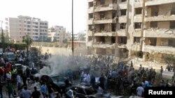 Район Бейрута, где прогремели взрывы. 19 ноября 2013 года.