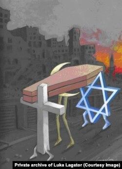 Karikatura nagrađena Plaketom UN na međunarodnom konkursu za najbolju objavljenu političku karikaturu