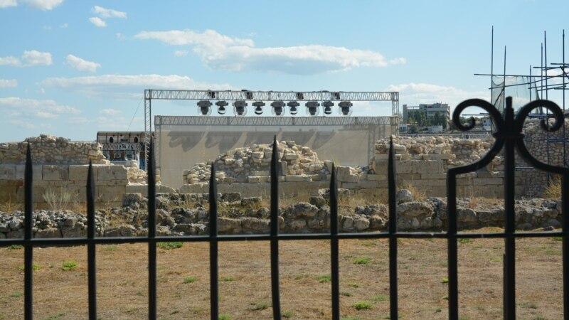 На территории заповедника «Херсонес Таврический» завершают строить вторую сцену (+фото)
