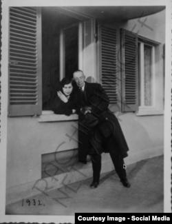 Cu Irina, fiica sa cea mai mare, la Senar, în 1932 (Foto: Rachmaninoff network/Facebook)