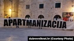 Prosvjed zbog gradnje Golf parka na Srđu, Dubrovnik, siječanj 2013.
