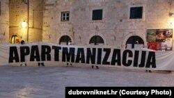 Protest protiv gradje na Srđu, foto: dubrovniknet.hr