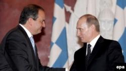 Караманлис и Путин во Москва 29.04.2008