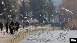 Сончево интермецо во Охрид. Охридско Езеро.