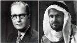 دونالد ویلبر (راست)؛ نویسنده گزارش ویلبر در مورد طرح سرنگونی مصدق، و کرمیت روزولت؛ رئیس اجرایی عملیات
