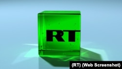 "Логотип российского телеканала RT (Russia Today -""Россия сегодня"")"