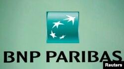 Логотип французского банка BNP Paribas.