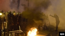 Neredi u Podgorici tokom protesta Demokratskog fronta
