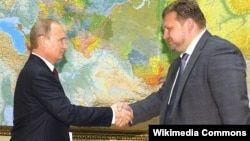 Губернатор Кировской области Никита Белых с Владимиром Путиным, август 2014