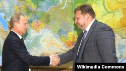 Губернатор Кировской области Никита Белых с Владимиром Путиным, 18 августа 2014
