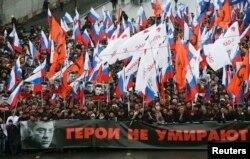 La marșul în aminirea lui Boris Nemțov