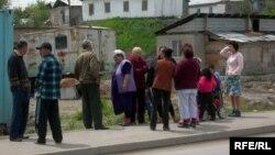 Шаңырақ ауылының тұрғындары.