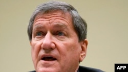 U.S. special representative for Afghanistan and Pakistan Richard Holbrooke testifying in Washington this month