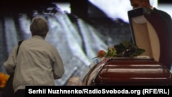 Під час прощання з Павлом Шереметом у Києві