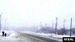 Смог над поселком Кенкияк. Актюбинская область, 28 декабря 2009 года.
