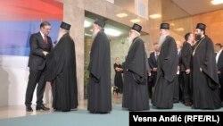 Српските владици на инаугурацијата на српскиот претседател Александар Вучиќ